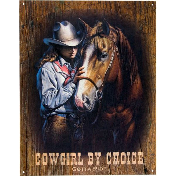 +Wall sign Cow girl by choic