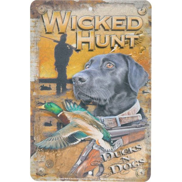 +Wall sign Wicked Hunt Ducks